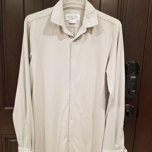 Mizzen + Main Gray Dress Shirt XL Tall Trim Fit